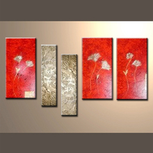 de alta calidad de la pintura de flores de arte
