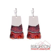 Fine Color Enameled Drop Earrings N1-47855/E