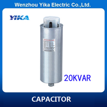 Low Voltage Power Capacitor 20 Kvar Capacitor Metallized Polypropylene Film Capacitor 3 Phase