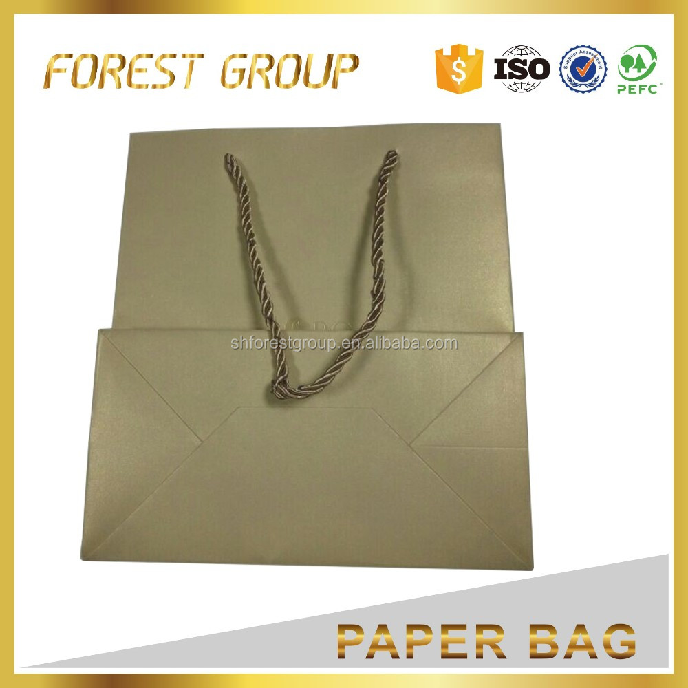 Simples saco de papel kraft saco de papel do presente saco do presente de natal de luxo para presentes de Natal