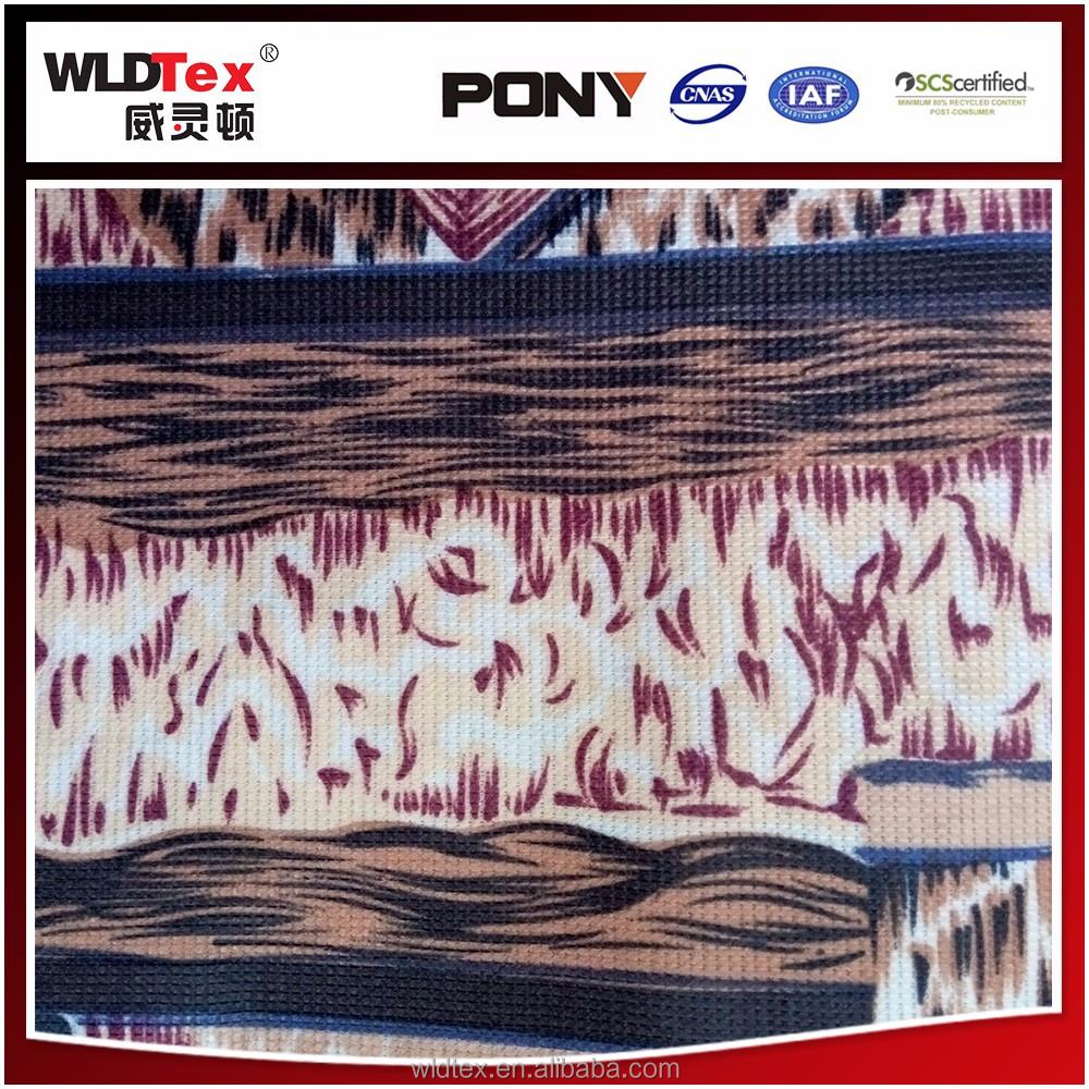 New africa SGS polyste resistente al agua de impresión de tela de alfombra
