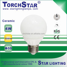 E27 4W G55 LED light bulb 20000hrs lifetime