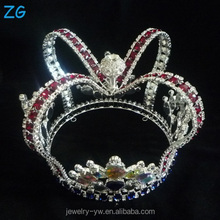 Colored Diamond Diamante Prom Kings Crown For Men Pageant Crowns