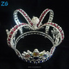 Newest Colored Diamond Pageant Crown Prom Kings Crown boys pageant crowns diamante tiara
