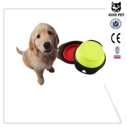 2015 silicone collapsible pet bowl dog travel bowl