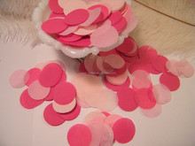 White red pink paper confetti for wedding