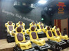 Newest yellow chairs truck mobile 5d cinema interactive 7d cinema for sale