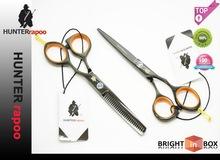 """5.5"""" color negro profesional del corte del pelo tijeras conjunto, 1x maquinilladeafeitar tijera + 1x adelgazamiento de"""