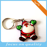 free sample customized design existing mould rubber Santa key chain