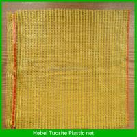 plastic raschel drawstring mesh bag onion packing