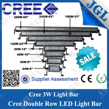 JGL best price super bright 4x4 off road LED lights bar from 24w to 288w offroad led light bar