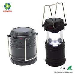 New arrival solar usb rechargeable camping lantern with 6 LED