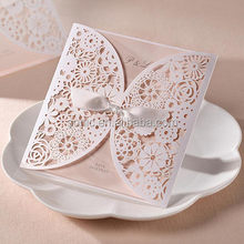 Argus Laser high speed laser cut wedding invitation card for different paper card design