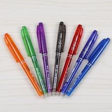 Different body color plastic erasable gel pen , erasable pen ink from paper