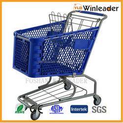 YLD-PT100-1FB,100L plastic shopping cart,shopping trolley