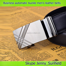 Genuine leather belt Business automatic buckle men's leather belt