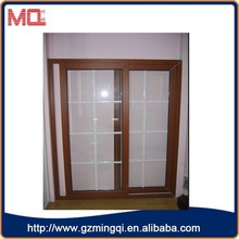 made in China new plastic interior sliding doors wood grain color