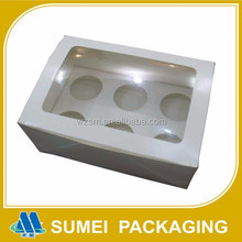 China manufacture custom mini cardboard paper cupcake box for 6 pack