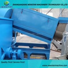 High speed friction and washing 500kg/h recycling washing machine