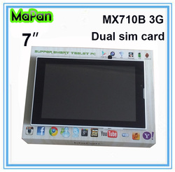 MaPan MX710B 3G tablet pc with sim card 7 inch tablet pc mtk8312 2g gsm 3g phone calling tablet pc 7inch