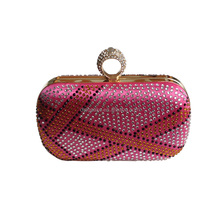 Gold shiny evening clutch shopping handbags party bag made in China
