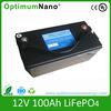 12v 100ah Lifepo4 battery pack for UPS golf cart RV EV HEV solar panel