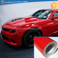 Premium Quality PVC Self Adhesive Glossy Red Color Reflective Car Vinyl Wrap Car Body Stickers
