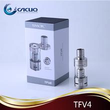 Smoktech TFV4 Atomizer 5ml airflow control tfv4 tanks sub ohm tanks tfv4 stainless steel/black kit For xcube 2