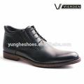 Hot venda preto de couro dos homens botas vestido dx1224-4