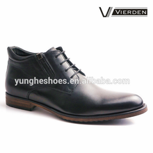 Hot selling black leather men's dress boots DX1224-4