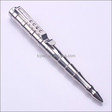 TC-T004 Silver Color polish military tactical pen for self protect
