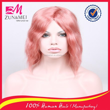 Fashion beauty sex products short human hair wig colorful hair cosplay