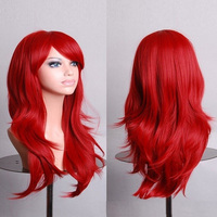 130% density lace front long cosplay 70cm body wave wigs