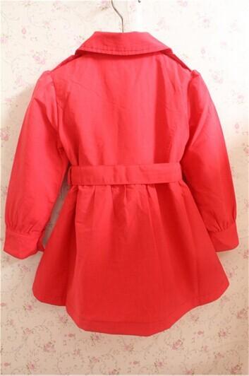 Скидки на Дизайнер 2-color дети пальто, Французский бренд девочки ремень осень и зима пальто, Девочки двубортная верхняя одежда