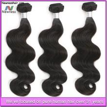100% human hair guaranteed superior quality body wave soft indian virgin hair