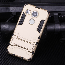 Hotsale high quality Cool Solid Iron Bear Design Hybrid PC and TPU Stand Case for LG Google Nexus 5X ,Cover case for LG Nexus 5X