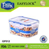 plastic airtight container lunch boxes with cutlery 500ml