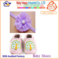 Attractive design soft fascinating baby leather shoes
