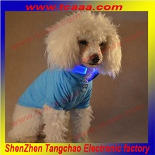 Hot sale Plain Color led flashing pet clothes funny dog coats