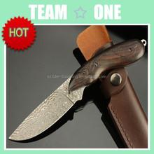 Steel Stag Custom Damascus Collector 8' Black Ebony Hunting Knife