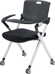 Modern Stackable Training Chair In nylon back with Writing Pad