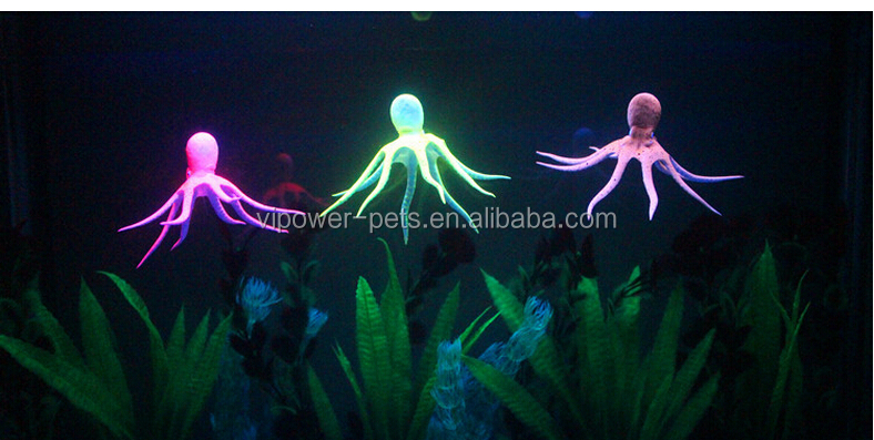 Aquarium luminous fluorescent octopus wholesale aquarium for Octopus fish tank