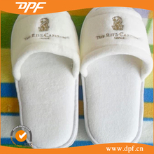 100%cotton hotel embroidered slipper