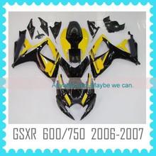 ABS motorcycle Fairing for SUZUKI GSXR 600/750 2006-2007 600 gsxr fairing