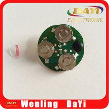 Flash lighting display, led light bulb, button cell battery powered led lights