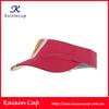 Fashion Design Red Cotton Plain Sun Visor Hats With Short Visor Adjustable Back Closure One Size Fits Most