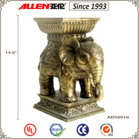 """14.8"""" factory direct resin elephant statues, brass elephant statues, large elephant statues"""