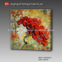 Hotel artwork oil on canvas painted flower