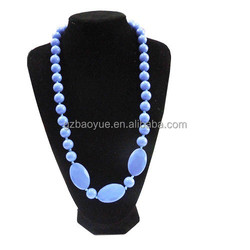 Chewable Teething Necklace Silicone safe for baby Beads Nursing necklace teether