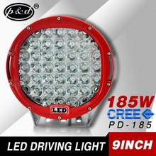 Auto accessories 185w high performance 9 inch round led driving lights